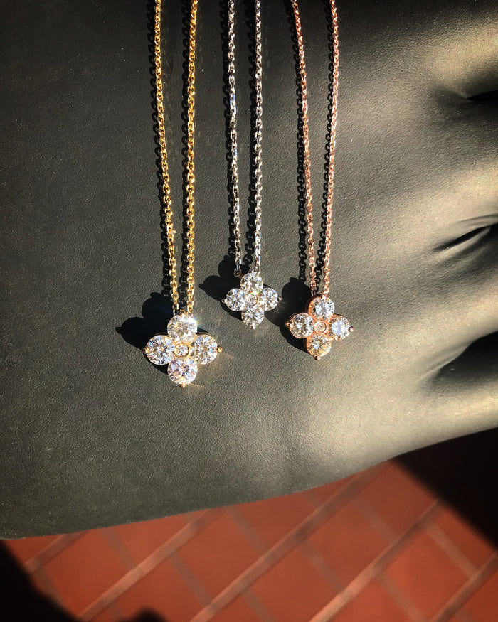 DIAMOND FLOWER PENDANTS