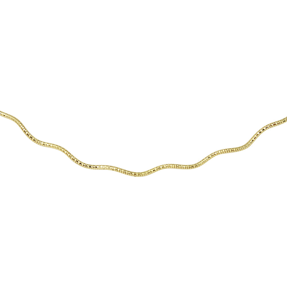 STERLING SILVER 1 LAYER WAVE OMEGA SPRING CHAIN