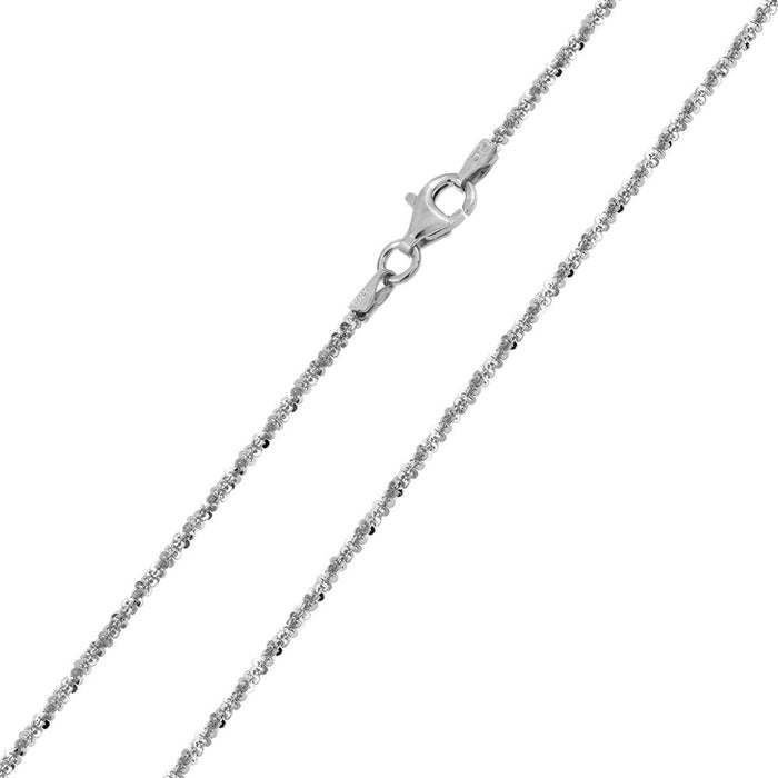 STERLING SILVER HIGH POLISHED ROCK CHAINS
