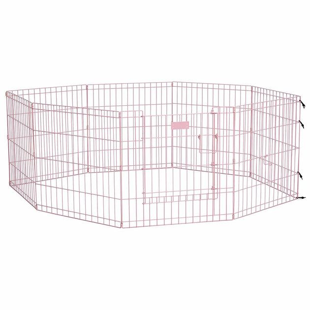 Life Stages Pet Exercise Pen with Full MAX Lock Door 8 Panels
