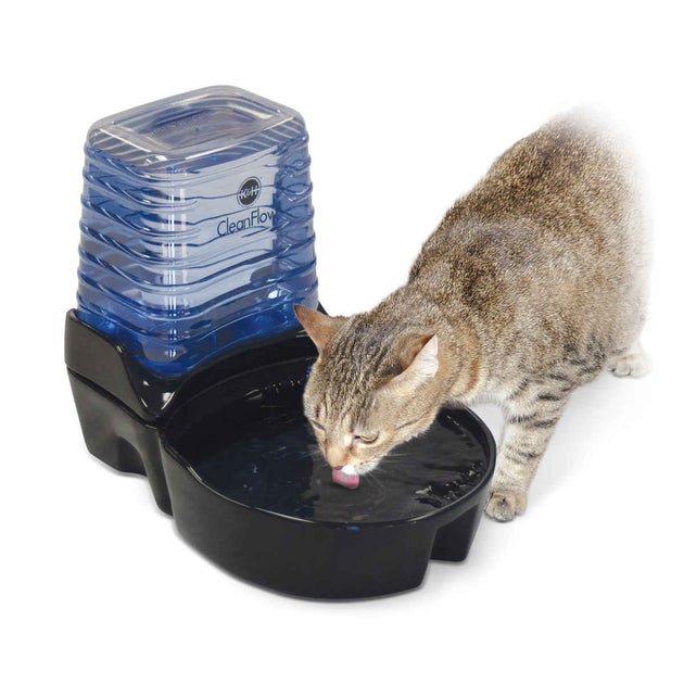 CleanFlow Cat Ceramic Fountain with Reservoir 170 oz.