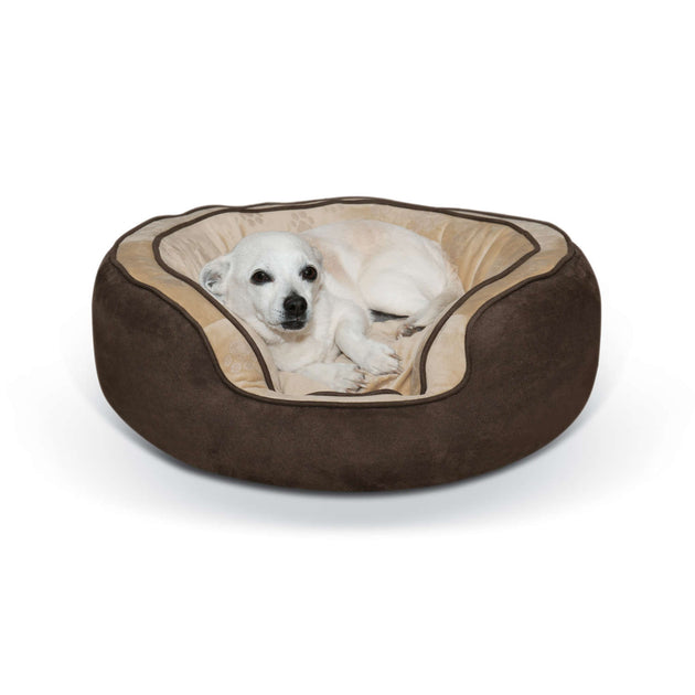 Round n' Plush Bolster Dog Bed
