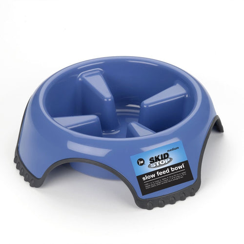 JW Skid Stop Slow Feed Dog Bowl