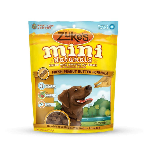Mini Naturals Moist Miniature Treat for Dogs Peanut Butter 6 oz.