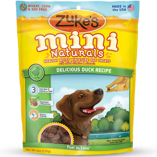 Mini Naturals Moist Miniature Treat for Dogs Delicious Duck 6 oz.