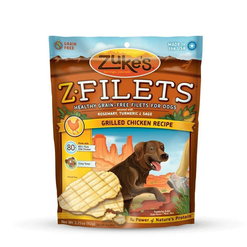 Z-Filets Select Grain Free Dog Treat Grilled Chicken 3.25 oz.