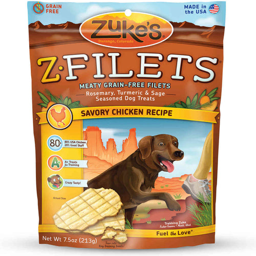 Z-Filets Select Grain Free Dog Treat Grilled Chicken 7.5 oz.