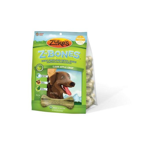 Z-Bones Grain Free Edible Dental Chews Clean Apple Crisp 8 count