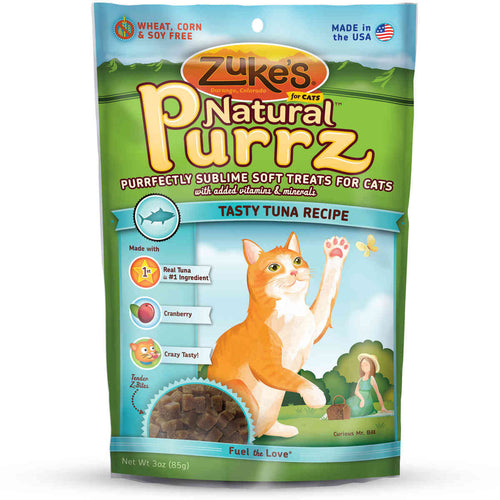 Natural Purrz Healthy Moist Treats for Cats Tuna 3 oz