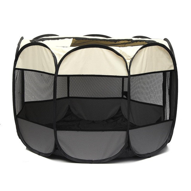Foldable Pet Dog Cat Cage Playpen Tent  Oxford Fabric Kennel Outdoor Portable Exercise Fence Crate Pet Sleeping Bed Pet Supplies