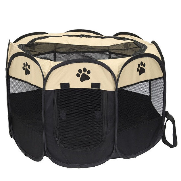 Pet Dog Fence Puppy Cat Playpen Crate Cage 8 Panels Portable House Kennel Tent Pet Dogs Carrier Fence Foldable Hammock 3 Colors