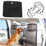 Car Pet Isolation Net Vehicle Back Seat Fence Safety Travel Protection Anti-collision Dog Pet Barrier Mesh Device 112cm*62cm