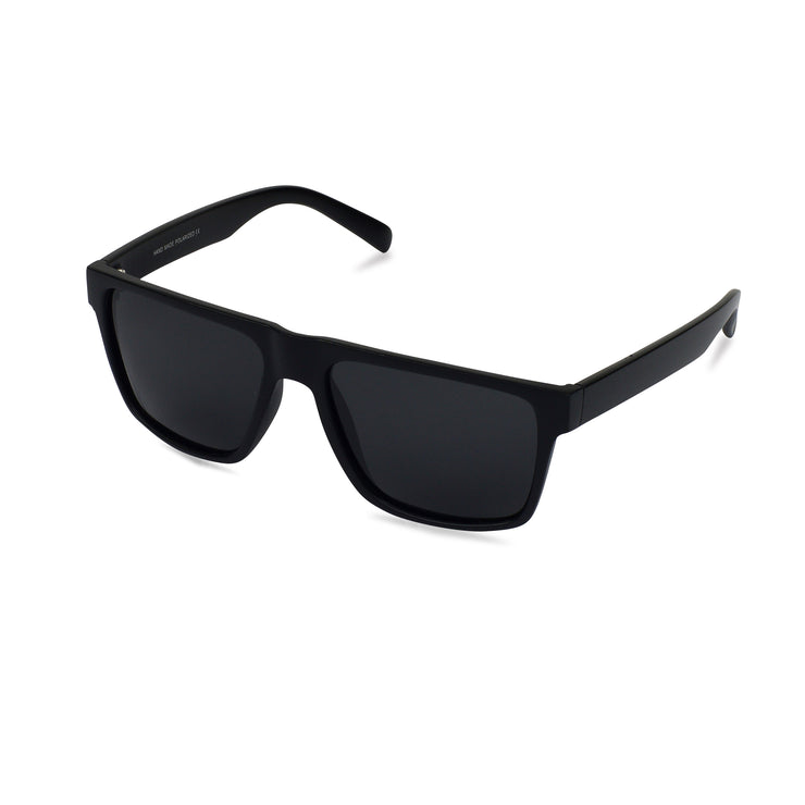 Men's Black Wayfarer Inspired Acetate Sunglasses | Angle View | Billboard