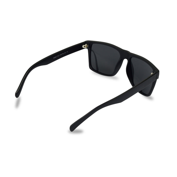 Men's Black Wayfarer Inspired Acetate Sunglasses | Rear View | Billboard