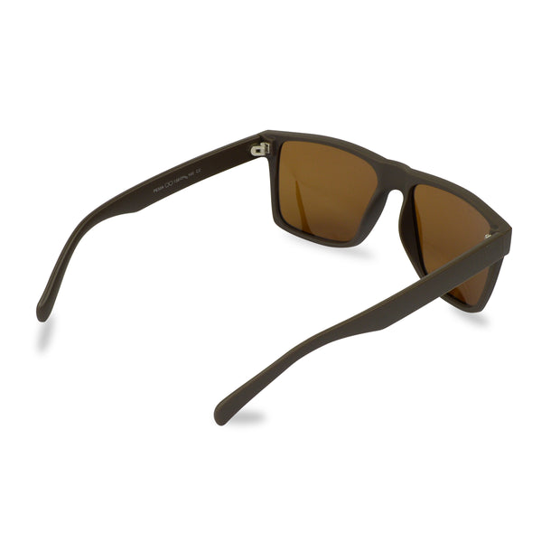 Men's Brown Wayfarer Inspired Acetate Sunglasses | Rear View | Billboard
