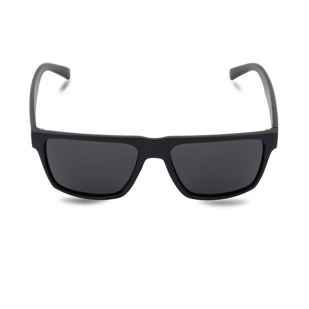 Men's Black Wayfarer Inspired Acetate Sunglasses | Main View | Billboard