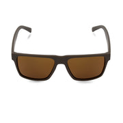 Men's Brown Wayfarer Inspired Acetate Sunglasses | Front View | Billboard