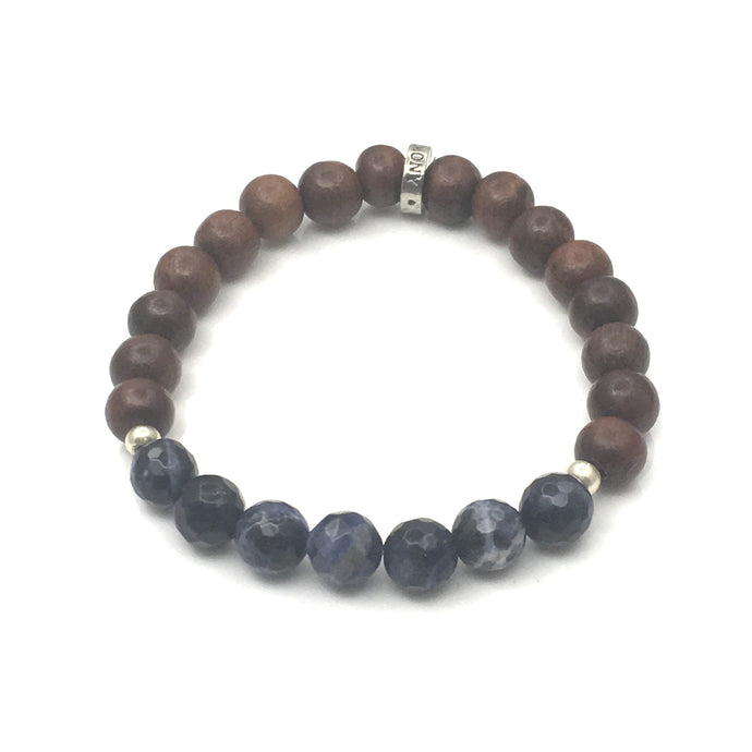 Share a bit of Honor - Sodalite & Wood Bracelet