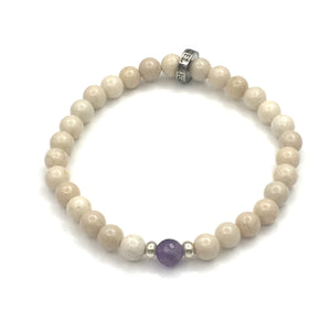 Share a Ray of Hope - Amethyst & Riverstone Bracelet