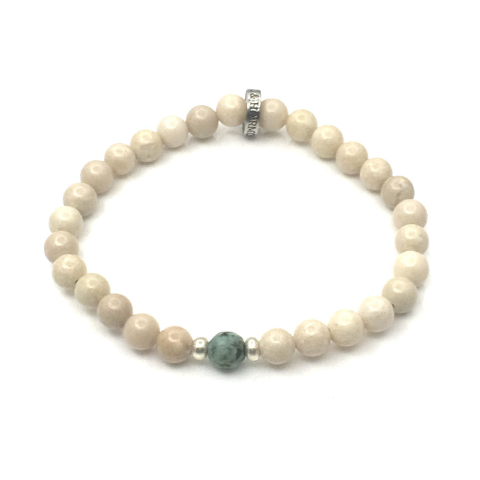 Share a bit of Positivity - African Turquoise & Riverstone Bracelet