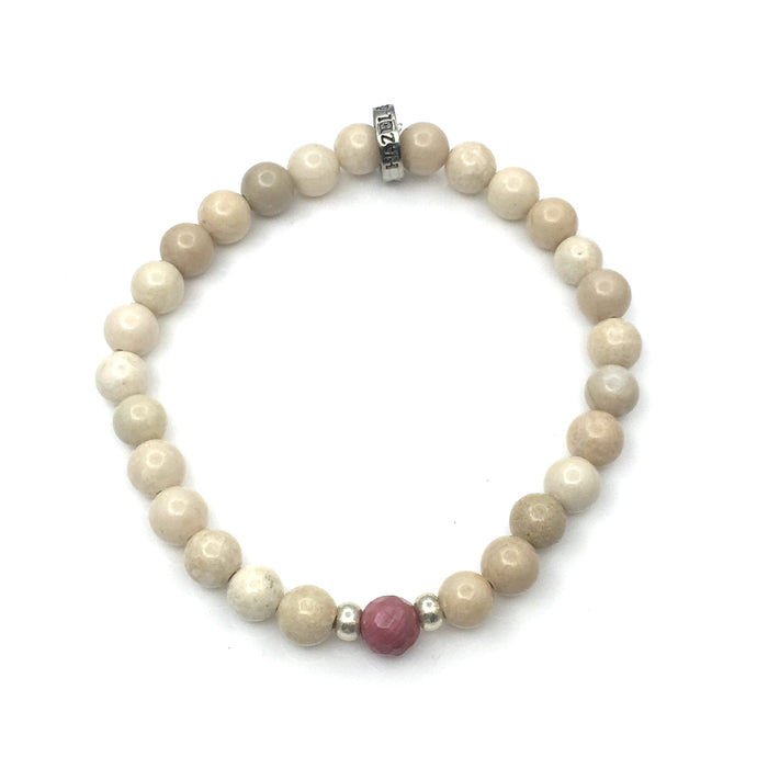 Share a bit of Strength - Rhodonite & Riverstone Bracelet