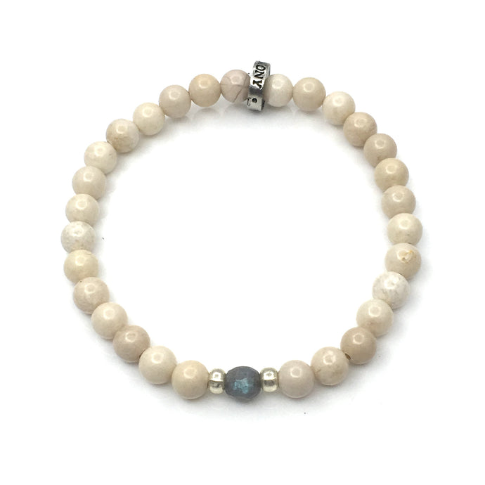 Share a bit of Kindness - Labradorite & Riverstone Bracelet