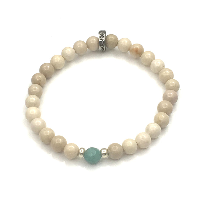 Share a bit of Calm - Amazonite & Riverstone Bracelet
