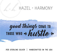 Good thing come to those who hustle - Sterling Silver Honey Comb necklace