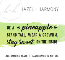Be a Pineapple - Sterling Silver Necklace