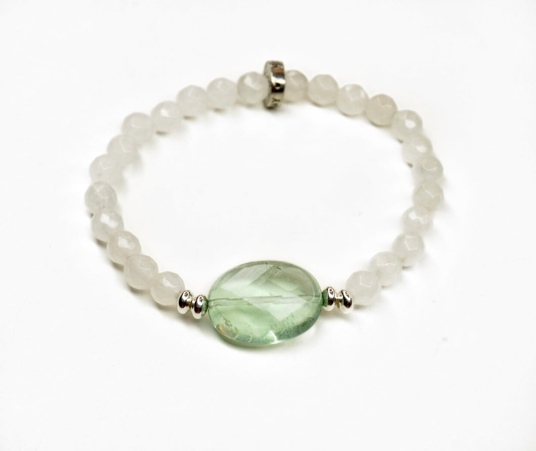 Fiuorite #betrue with White Agate
