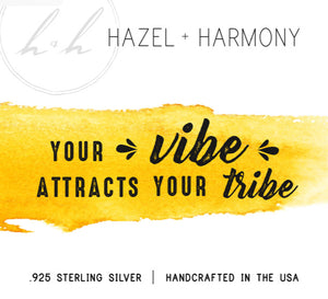 Your Vibe Attracts Your Tribe - Suede Choker Wrap