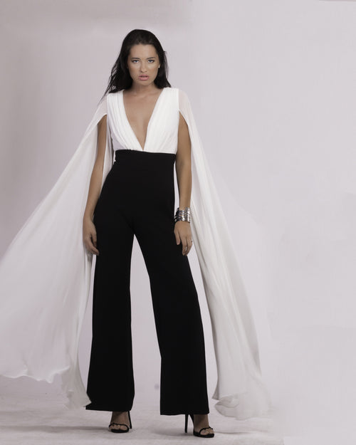 Two Become One- Cape Jumpsuit