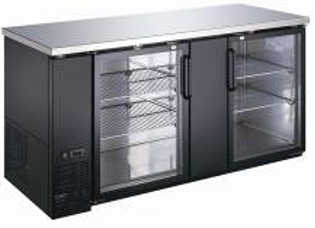 "Canco BB-2869G Commercial 72"" Double Glass Door Back Bar Cooler"