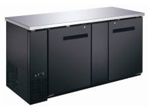 "Canco BB-2869S Commercial 70"" Double Door Back Bar Cooler"