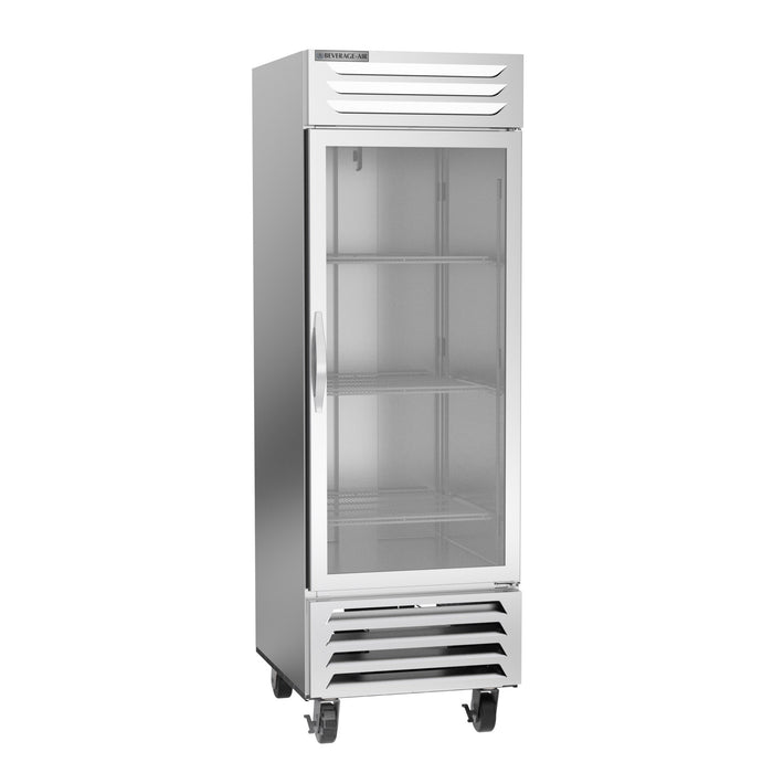 "Beverage Air Vista Series FB23HC-1G Single Glass Door 27"" Wide Stainless Steel Freezer - CONTACT US FOR BEST PRICING"