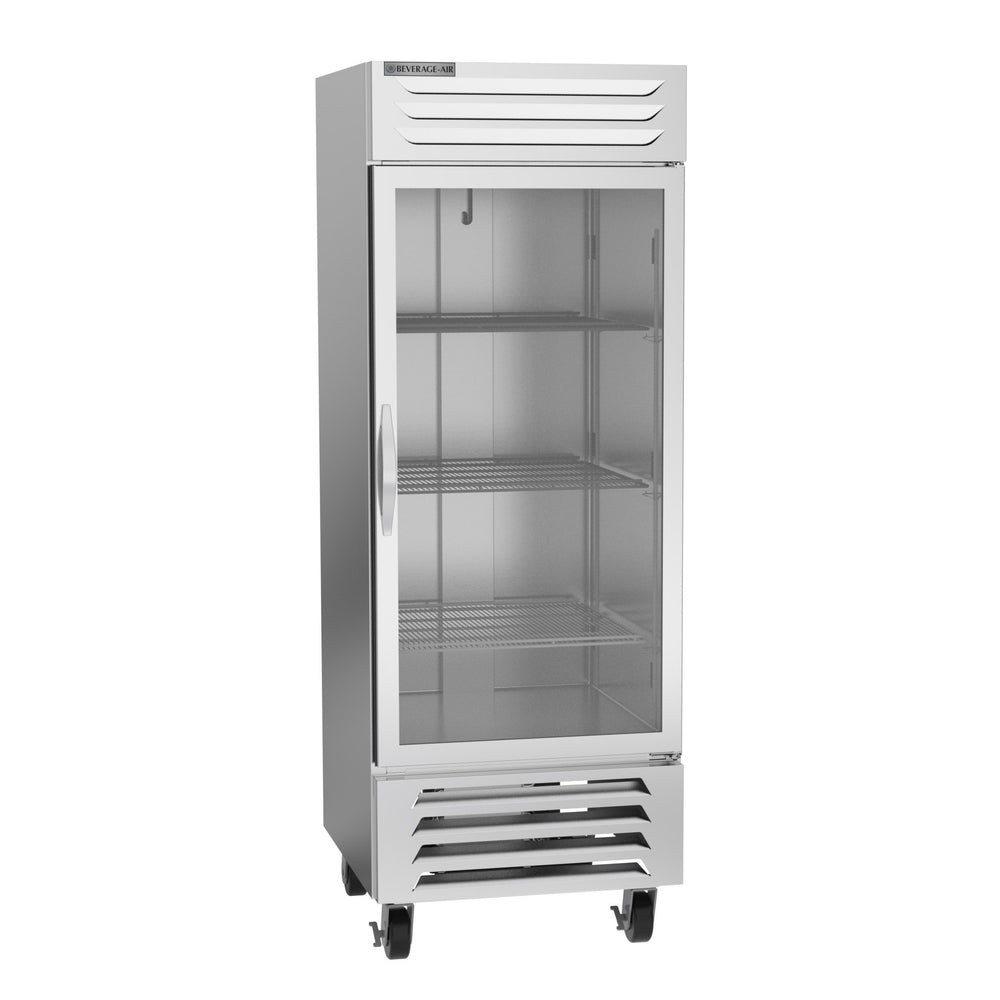 "Beverage Air Vista Series FB27HC-1G Single Glass Door 30"" Wide Stainless Steel Freezer - CONTACT US FOR BEST PRICING"