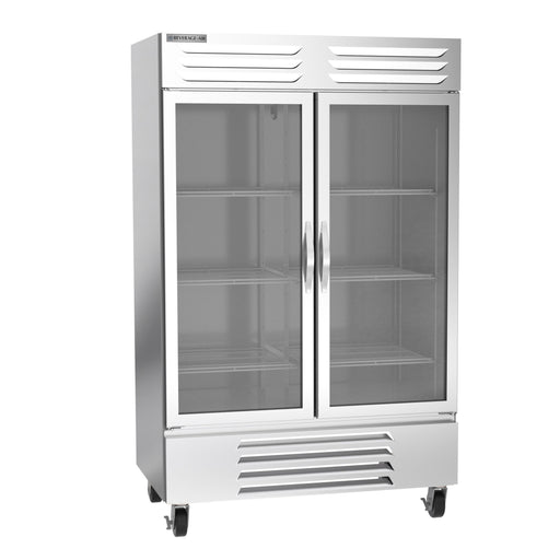 "Beverage Air Vista Series FB49HC-1G Double Glass Door 52"" Wide Stainless Steel Freezer - CONTACT US FOR BEST PRICING"