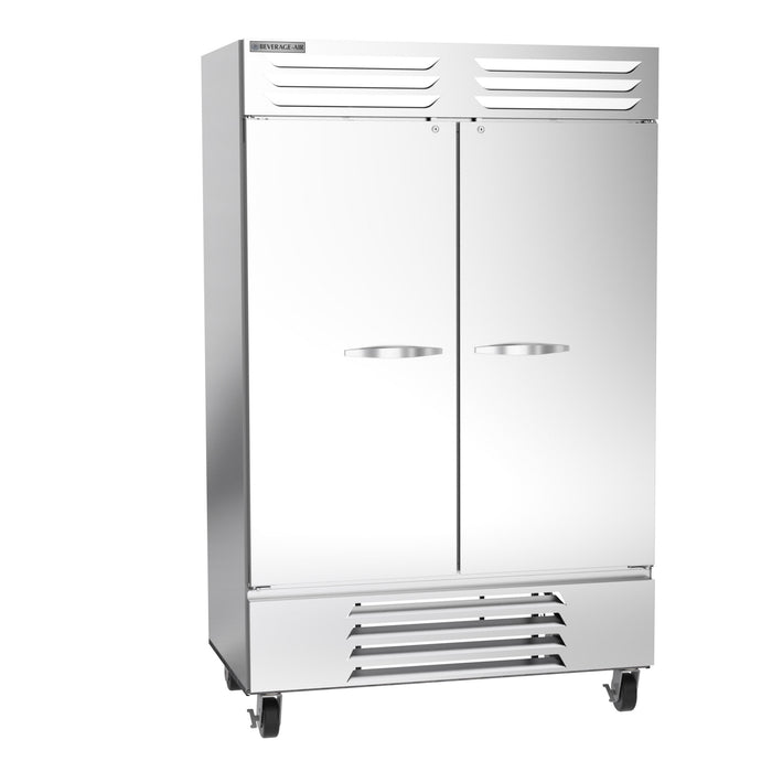 "Beverage Air Vista Series FB49HC-1S Double Solid Door 52"" Wide Stainless Steel Freezer - CONTACT US FOR BEST PRICING"