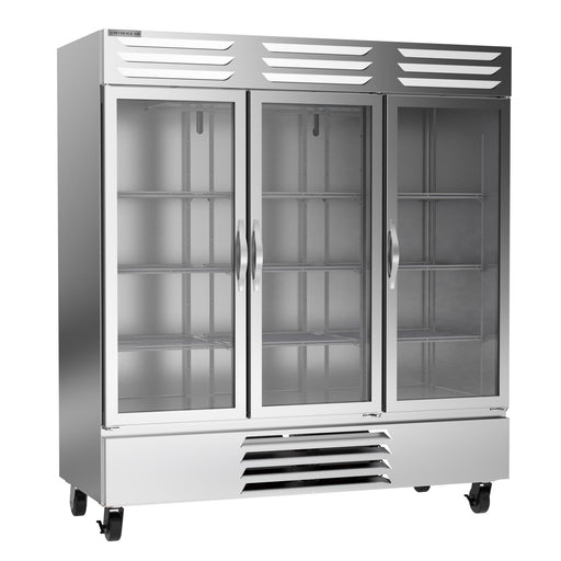 "Beverage Air Vista Series FB72HC-5G Triple Glass Door 75"" Wide Stainless Steel Freezer - CONTACT US FOR BEST PRICING"