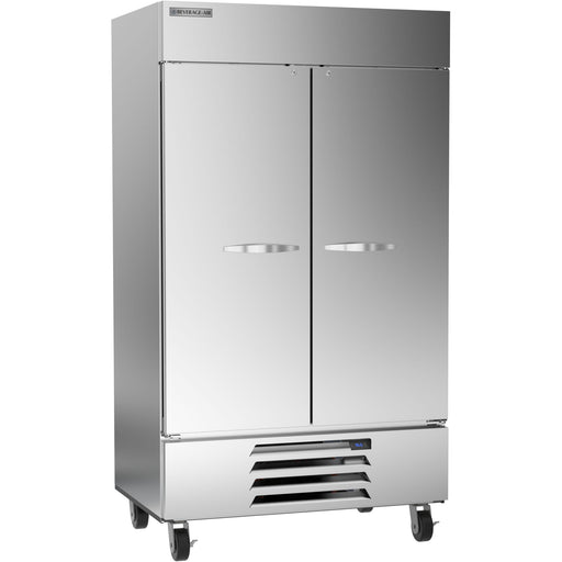 "Beverage Air Horizon Series HBR44HC-1 Double Solid Door 47"" Wide Stainless Steel Refrigerator - CONTACT US FOR BEST PRICING"
