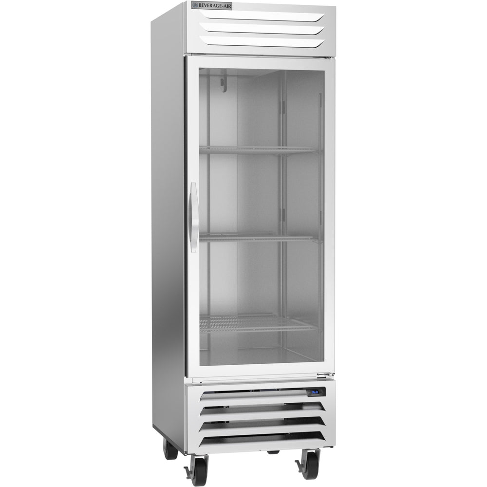 "Beverage Air Vista Series RB23HC-1G Single Glass Door 27"" Wide Stainless Steel Refrigerator - CONTACT US FOR BEST PRICING"