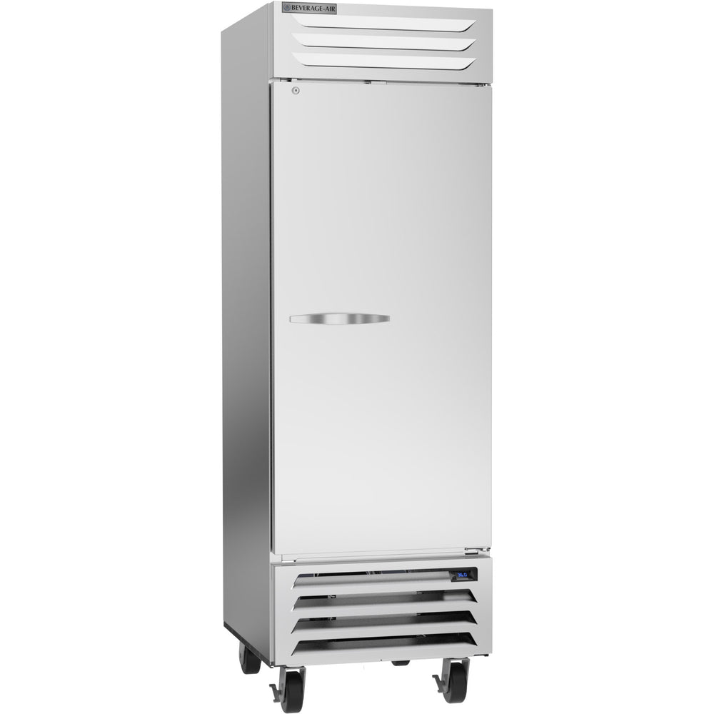 "Beverage Air Vista Series RB23HC-1S Single Solid Door 27"" Wide Stainless Steel Refrigerator - CONTACT US FOR BEST PRICING"