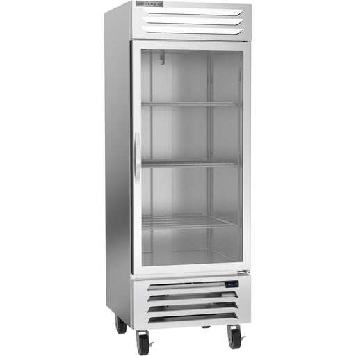 "Beverage Air Vista Series RB27HC-1G Single Glass Door 30"" Wide Stainless Steel Refrigerator - CONTACT US FOR BEST PRICING"