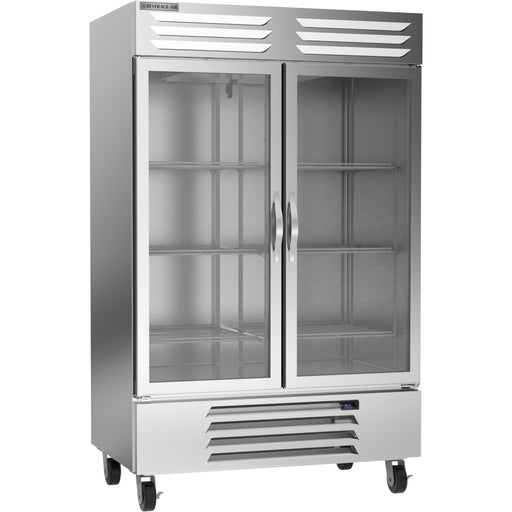 "Beverage Air Vista Series RB49HC-1G Double Glass Door 52"" Wide Stainless Steel Refrigerator - CONTACT US FOR BEST PRICING"