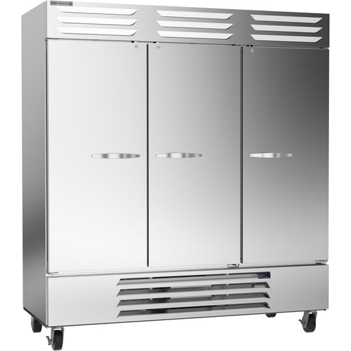 "Beverage Air Vista Series RB72HC-1S Triple Solid Door 75"" Wide Stainless Steel Refrigerator"