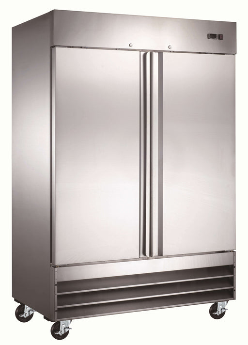 "Canco SSR-1320 Double Solid Door 54"" Wide Stainless Steel Refrigerator"