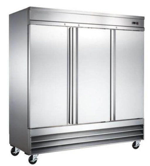 "Canco SSR-2040 Triple Solid Door 81"" Wide Stainless Steel Refrigerator"