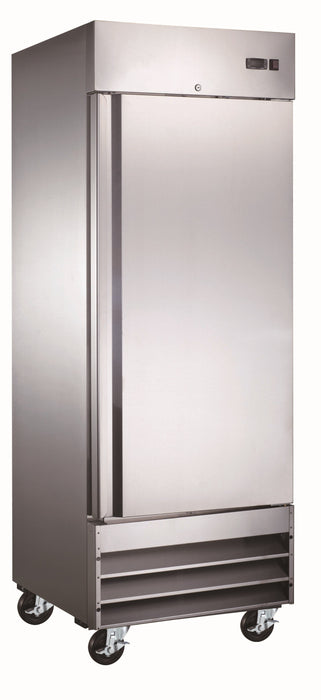 "Canco SSR-650 Single Solid Door 29"" Wide Stainless Steel Refrigerator"