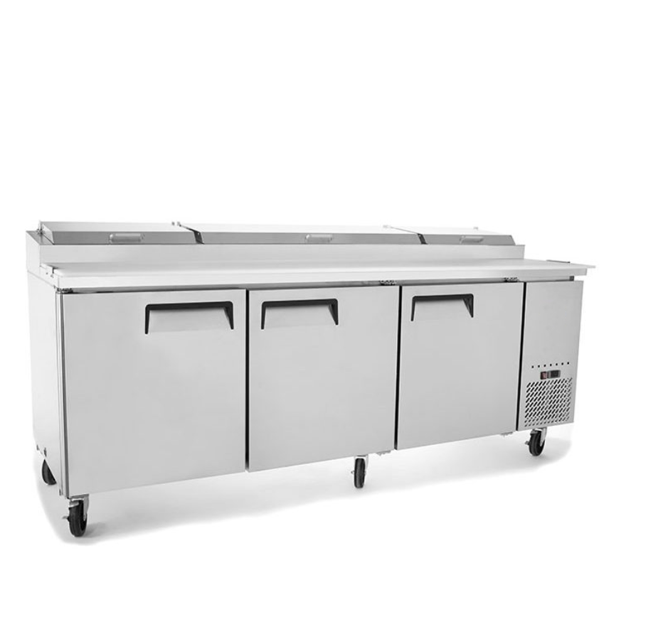 "Suttonaire MPF8203 Triple Door 93"" Refrigerated Pizza Prep Table"