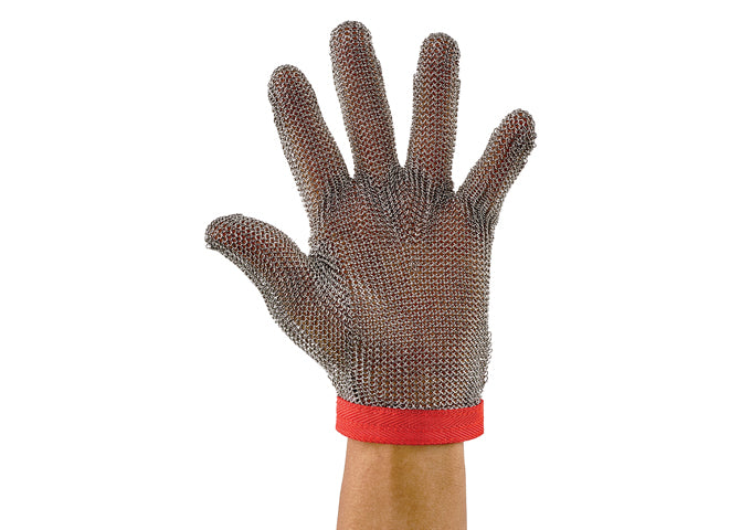 Winco Stainless Steel Protective Mesh Gloves, ANSI-ISEA 105-2016 Cut-Resistance Level A9